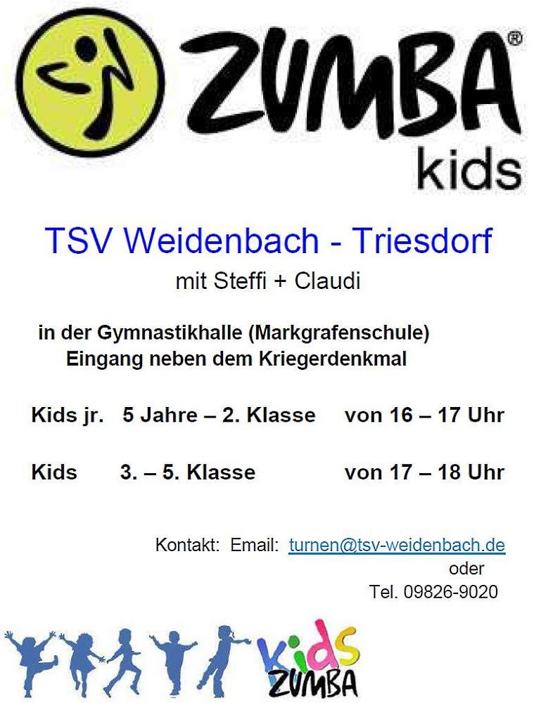 Zumba-Kids Aushang